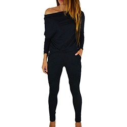 Women's 1PC Trendy Jumpsuit Sleeveless Broken Hole Waisted Club Long Romper Outfit, XX-Large,  09-black found on Bargain Bro from  for $23.98