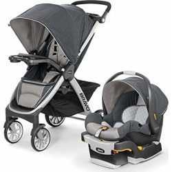 Chicco Bravo Trio Travel System with Full Size Stroller, Convertible Frame Stroller, One-Hand Compact Fold, Extendable Canopy and KeyFit 30 Infant Car Seat, Nottingham found on Bargain Bro from  for $379.99