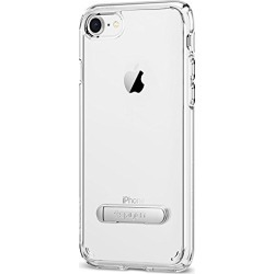 Spigen Ultra Hybrid S [2nd Generation] iPhone 8 Case/iPhone 7 Case with Air Cushion Technology and Magnetic Metal Kickstand for Apple iPhone 8 (2017)/iPhone 7 (2016) - Crystal Clear found on Bargain Bro from  for $11.99