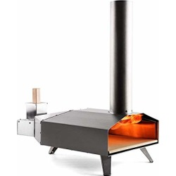 Ooni 3 Portable Wood Pellet Pizza Oven W/ Stone and Peel, Stainless Steel found on Bargain Bro from  for $299.99