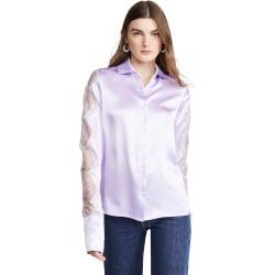 Anais Jourden Lilac Silk Satin Shirt found on MODAPINS from shopbop for USD $197.50