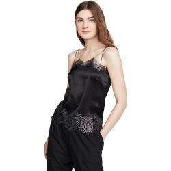 Anais Jourden Black Silk Satin Camisole found on MODAPINS from shopbop for USD $92.50