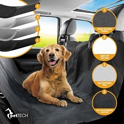 PetTech Luxury Car Seat Cover/Hammock for Rear Bench (for Large and Small Dogs), Simple Installation & Easy to Clean, Protect Your Car, 100% Waterproof, Anti-Slip Design, Travel Worry-Free found on Bargain Bro from  for $23.99