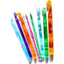 WM KING Pack of 9 Acrylic Crochet Hooks 3.0mm-12mm in a Plastic Wallet/case found on Bargain Bro from  for $2.3