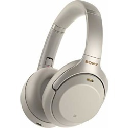 Sony Noise Cancelling Headphones WH1000XM3: Wireless Bluetooth Over the Ear Headphones with Mic and Alexa voice control - Industry Leading Active Noise Cancellation - Silver found on Bargain Bro from  for $348