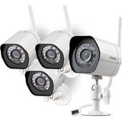 Zmodo Wireless Security Camera System (4 Pack) , Smart Home HD Indoor Outdoor WiFi IP Cameras with Night Vision, 1-month Free Cloud Recording found on Bargain Bro from  for $115