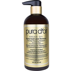 PURA D'OR Original Gold Label Anti-Thinning Shampoo Clinically Tested, Infused with Organic Argan Oil, Biotin & Natural Ingredients, for All Hair Types, Men and Women, 16 Fl Oz (Packaging may vary) found on Bargain Bro from  for $39.99