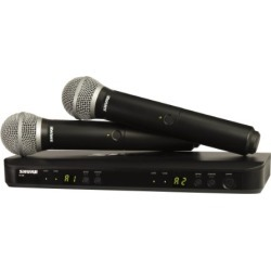 Shure BLX288/PG58 Dual Channel Handheld Wireless System with 2 PG58 Vocal Microphones, J10 found on Bargain Bro from  for $549