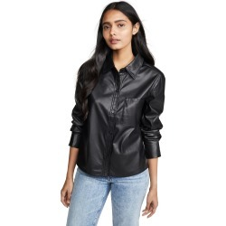 Habitual Taylor Faux Leather Shirt