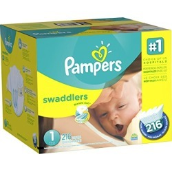 Pampers Swaddlers Diapers Newborn Size 1 (8-14 lb) 216 Count (old version) (Packaging May Vary) found on Bargain Bro from  for $56.23