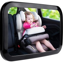 Zacro Baby Car Mirror, Shatter-Proof Acrylic Baby Mirror for Car, Rearview Baby Mirror-Easily to Observe The Baby's Every Move, Safety and 360 Degree Adjustability found on Bargain Bro from  for $11.99