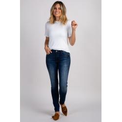 Navy Solid Basic Skinny Jean