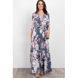 c248adc03f8 Grey Abstract Floral Sash Tie Maxi Dress found on MODAPINS from PinkBlush  Maternity for USD  68.00
