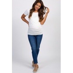 Blue Basic Maternity Jeans
