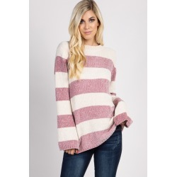 Mauve Striped Sweater