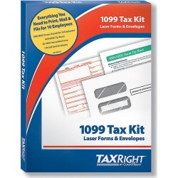 Taxright 1099-Misc 4 Part No Software 10 Recipient