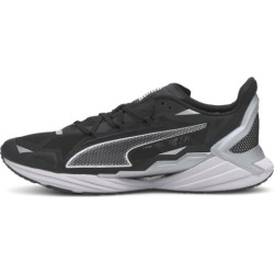 PUMA UltraRide Men's Running Shoes in Black/Silver, Size 8