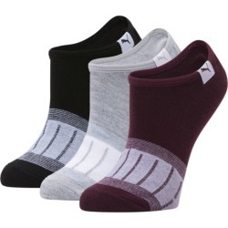 PUMA No Show Socks 3 Pack, Women's, Light Pastel Grey