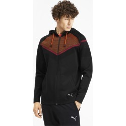 PUMA Reactive evoKNIT Men's Jacket in Black/Rhubarb, Size XXL