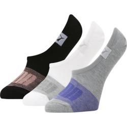 PUMA No Show Socks 3 Pack, Women's, Grey/Blue