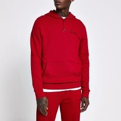 River Island Mens Prolific red slim fit hoodie