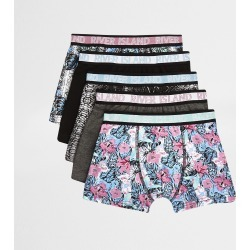 Mens Boys Grey floral boxers multipack found on MODAPINS from River Island - UK for USD $17.79