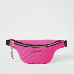 River Island Girls pink quilted fluorescent bum bag found on MODAPINS from RIver Island US for USD $24.00