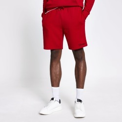 Mens River Island Prolific Red slim fit shorts