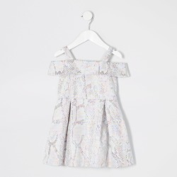 River Island Mini girls Silver jacquard prom dress found on Bargain Bro UK from River Island - UK
