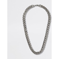River Island Mens Silver colour chunky chain necklace