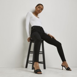 River Island Womens Petite Black Molly mid rise jeggings found on MODAPINS from River Island - UK for USD $56.43
