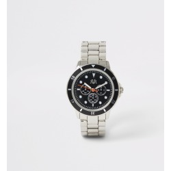 River Island Boys Silver colour link strap watch found on Bargain Bro UK from River Island - UK