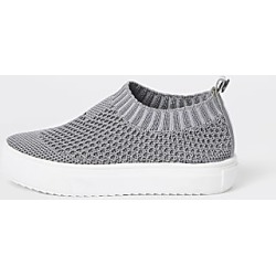 River Island Mini boys grey mesh sock plimsolls found on Bargain Bro India from RIver Island US for $28.00