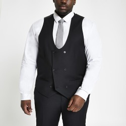 River Island Mens Big and Tall black double breast waistcoat found on MODAPINS from RIver Island US for USD $70.00