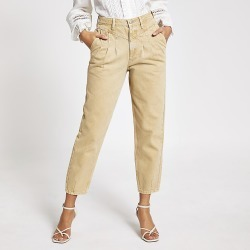 River Island Womens Stone high rise tapered jeans found on MODAPINS from RIver Island US for USD $84.00