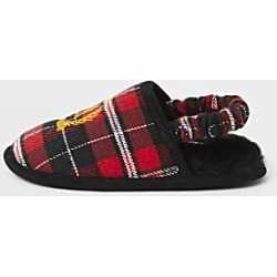 River Island Mini boys red tartan RI crest mule slippers found on Bargain Bro India from RIver Island US for $20.00