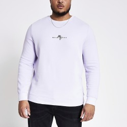 River Island Mens Big and Tall Maison Riviera purple sweatshirt