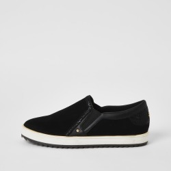 River Island Womens Black slip on trainers found on MODAPINS from River Island - UK for USD $32.77