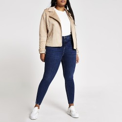 River Island Womens Plus blue Molly mid rise jeggings found on MODAPINS from RIver Island US for USD $74.00