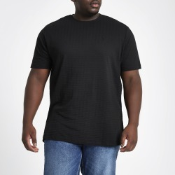 Mens River Island Big and Tall waffle slim fit crew T-shirt found on Bargain Bro UK from River Island - UK