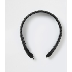 River Island Womens Black faux leather woven headband found on MODAPINS from River Island - UK for USD $16.60