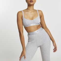 River Island Womens Intimates Grey ribbed cupped bralet top found on MODAPINS from River Island - UK for USD $22.11