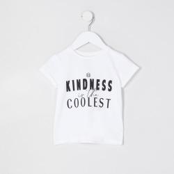 River Island Mini girls White 'Kindness' t-shirt found on Bargain Bro UK from River Island - UK