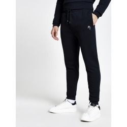 Mens River Island Maison Riviera Navy slim fit joggers