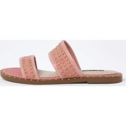 River Island Womens Orange stud gold chain mule sandals found on Bargain Bro UK from River Island - UK