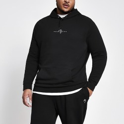 River Island Mens Big and Tall navy Maison Riviera hoodie