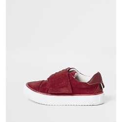 River Island Mini kids red RI velcro trainers found on Bargain Bro India from RIver Island US for $14.00