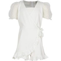 River Island Girls White wrap puff sleeve frill playsuit found on Bargain Bro UK from River Island - UK