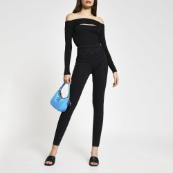 River Island Womens Black high rise denim jeggings found on MODAPINS from River Island - UK for USD $42.32