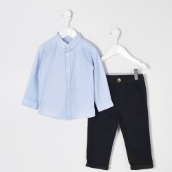 River Island Mini boys Blue shirt and chinos outfit found on Bargain Bro UK from River Island - UK